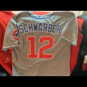 Cubs Schwarber gray jersey size 54